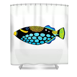 Clown Triggerfish  Shower Curtain by Opas Chotiphantawanon