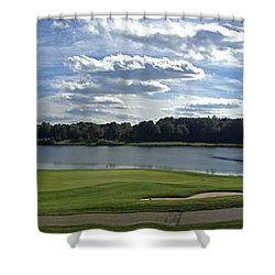 Club House Panorama Shower Curtain