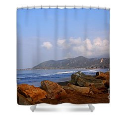 Coast Line California Shower Curtain by Susanne Van Hulst