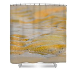Coastal Abstract Shower Curtain by Fotosas Photography
