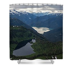 Coastal Range Tranquility Shower Curtain by Mike Reid