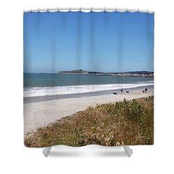 Coastside California Shower Curtain by Carolyn Donnell