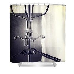 Coat Rack Shower Curtain by Joana Kruse