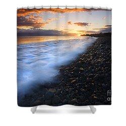 Cobblestone Sunset Shower Curtain by Mike  Dawson