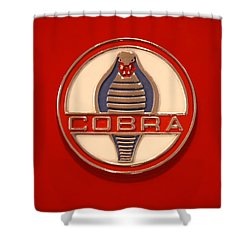 Cobra Emblem Shower Curtain