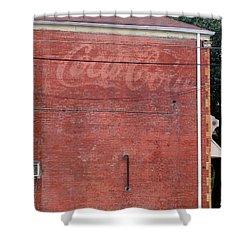 Coca Cola Faded Shower Curtain by Denise Keegan Frawley