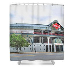 Shower Curtain featuring the photograph Coca Cola Field  by Michael Frank Jr