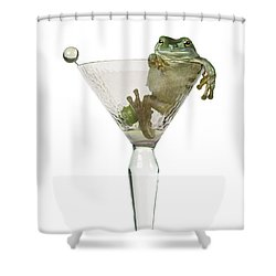 Cocktail Frog Shower Curtain by Darwin Wiggett