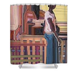 Coconutman Shower Curtain by Ian  MacDonald