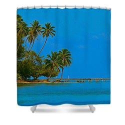 Shower Curtain featuring the photograph Coconuts Anyone by Eric Tressler
