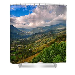 Cocora Valley Shower Curtain by Skip Hunt