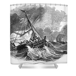 Cod Fishing, 1876 Shower Curtain by Granger