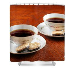 Coffee And Cookies Shower Curtain by Darren Fisher