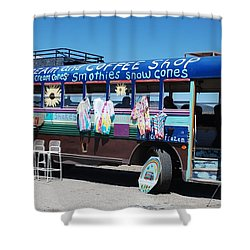 Coffee Bus Shower Curtain by Dany Lison