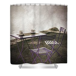 Coffee Table Shower Curtain