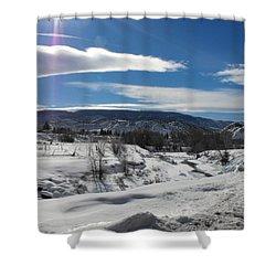 Cold Sun Shower Curtain