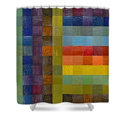 Collage Color Study Sketch Shower Curtain