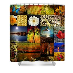 Collage Of Colors Shower Curtain by Mark Ashkenazi