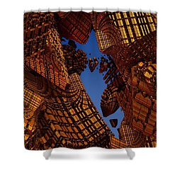 Collapse Shower Curtain by Lyle Hatch