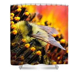 Collecting Pollen Shower Curtain by Vivian Christopher