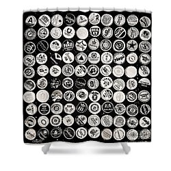 Collection Shower Curtain by Jutta Maria Pusl