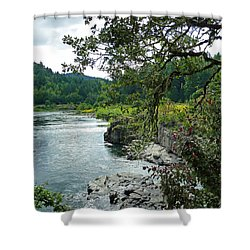 Colliding Rivers Shower Curtain