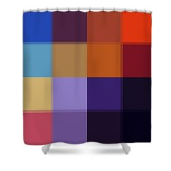 Color Block Colorful I By Madart Shower Curtain by Megan Duncanson