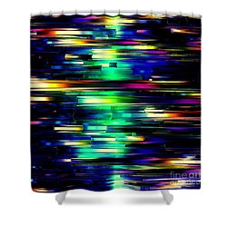 Color Of Speed Shower Curtain by Greg Moores