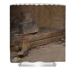 Shower Curtain featuring the photograph Color Of Steel 1 by Fran Riley