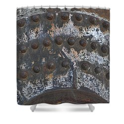 Shower Curtain featuring the photograph Color Of Steel 7a by Fran Riley
