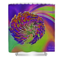 Color Splash Shower Curtain by Cindy Manero