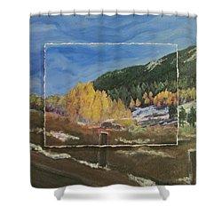 Colorado Almost Winter Shower Curtain by Anita Burgermeister