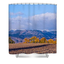 Colorado Autumn Morning Scenic View Shower Curtain by James BO  Insogna