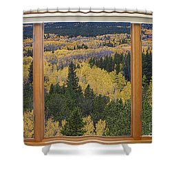 Colorado Autumn Picture Window Frame Art Photos Shower Curtain by James BO  Insogna