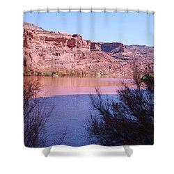 Colorado River After Rain - Utah Shower Curtain