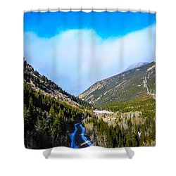 Shower Curtain featuring the photograph Colorado Road by Shannon Harrington