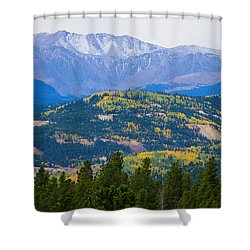 Colorado Rocky Mountain Autumn View Shower Curtain by James BO  Insogna