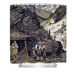 Colorado Silver Mines, 1874 Shower Curtain by Granger