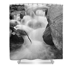 Colorado St Vrain River Trance Bw Shower Curtain by James BO  Insogna