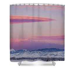 Colorado Winter Moon And Sunrise Shower Curtain by James BO  Insogna