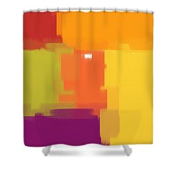 Colorblock Shower Curtain by Heidi Smith
