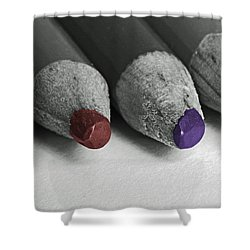Colored Pencils Shower Curtain by Bill Owen