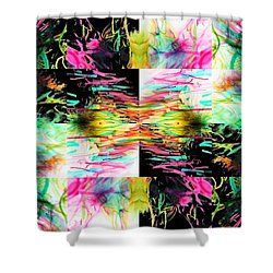 Colored Tubes Shower Curtain by Sumit Mehndiratta