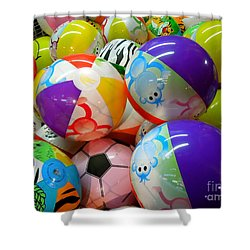 Shower Curtain featuring the photograph Colorful Balls by Renee Trenholm