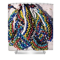 Colorful Beads Jewelery Shower Curtain
