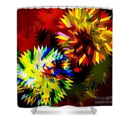 Colorful Blade Shower Curtain by Atiketta Sangasaeng