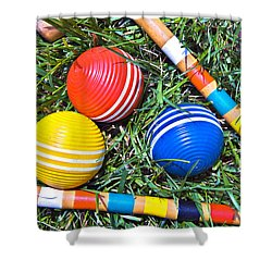 Colorful Croquet Balls Shower Curtain