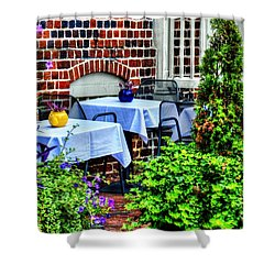 Colorful Dining Shower Curtain by Debbi Granruth
