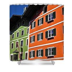 Colorful Kitzbuehel - Austria Shower Curtain by Juergen Weiss