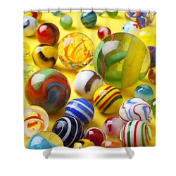 Colorful Marbles Shower Curtain by Garry Gay